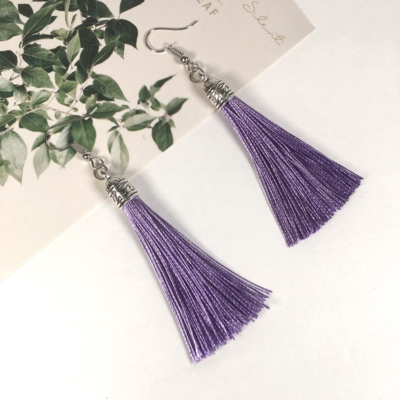 Jewelry - Lavender Tassel Drop Earrings